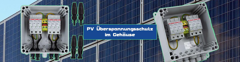 PV Überspannungsschutz im Gehäuse 1000V DC, T2, 2MPP, MC4